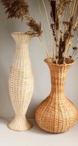 плетеные напольные вазы