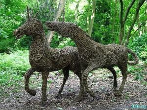 скульптуры из ивового прута